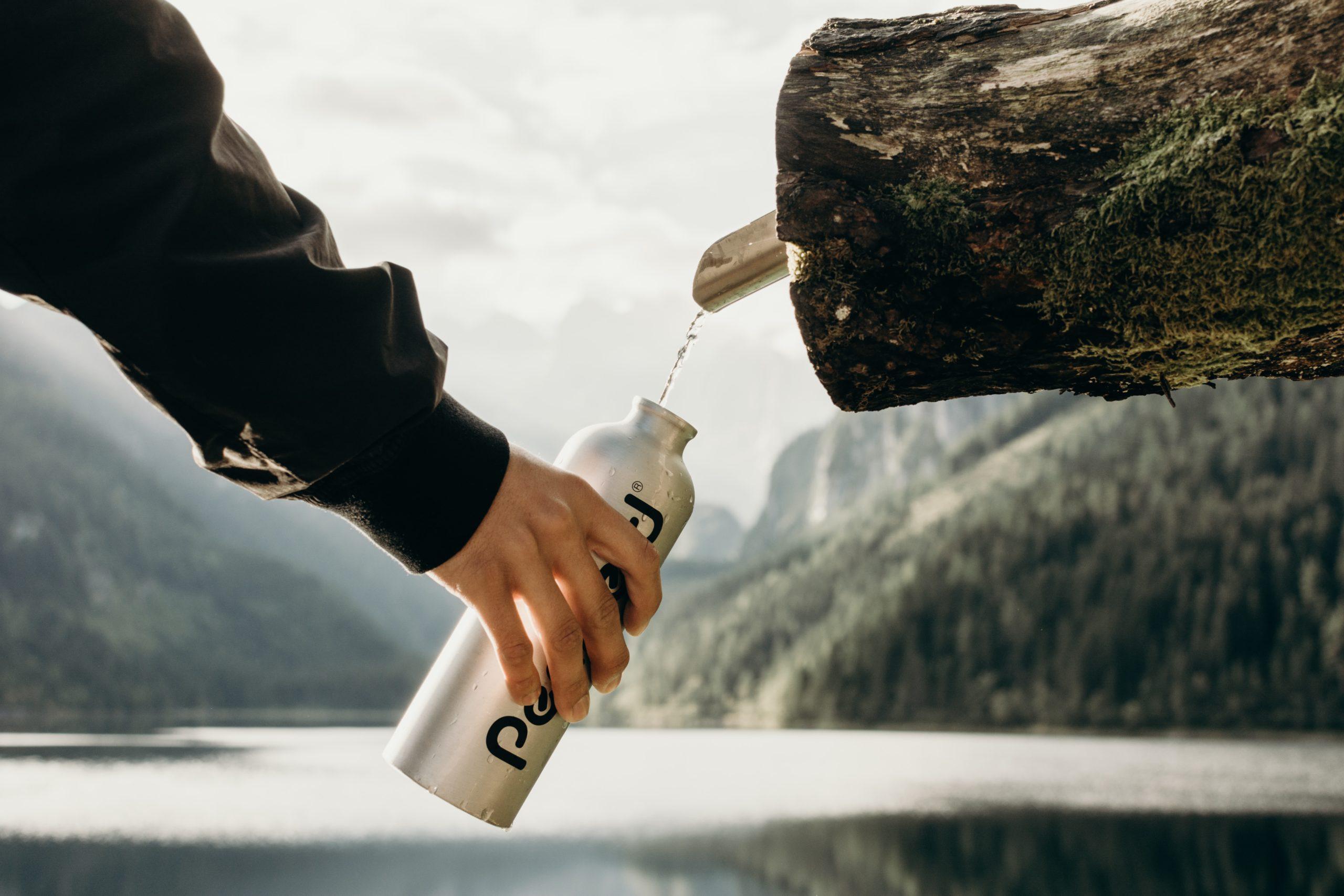 boire eau gourde réutilisable