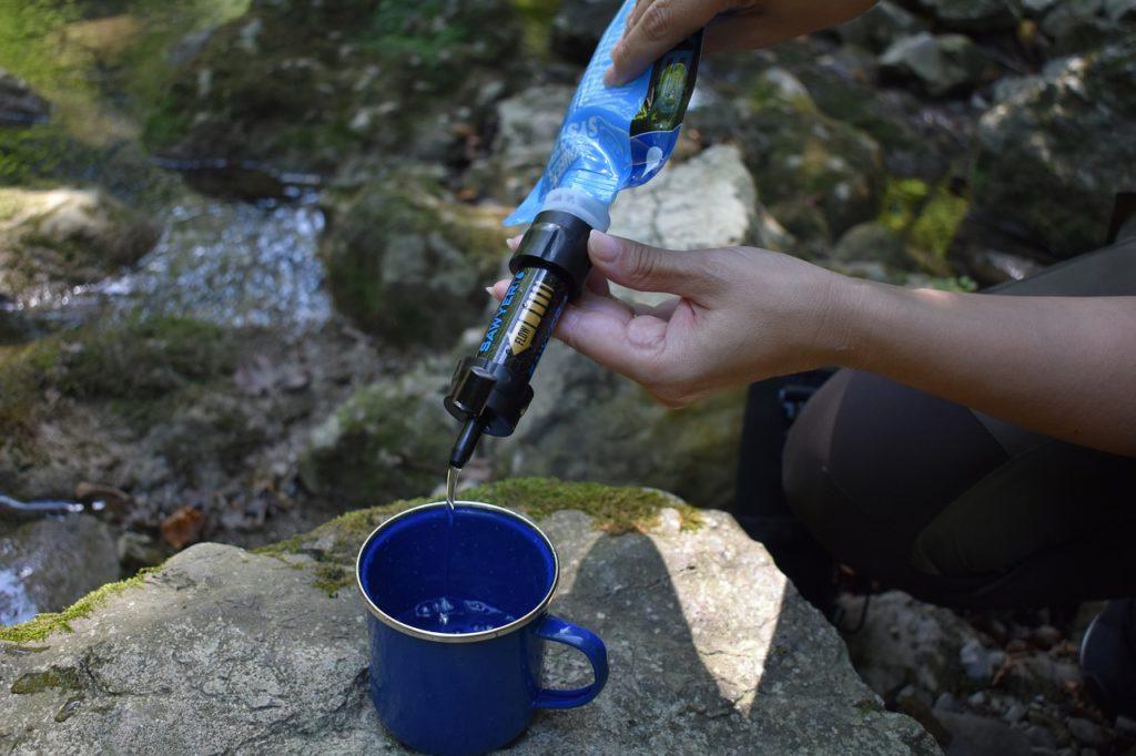 kit de filtration eau survie